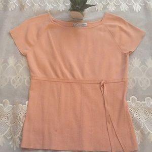 Dress barn Peach Color Blouse Size L